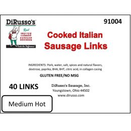 Cooked Italian Sausage Links
